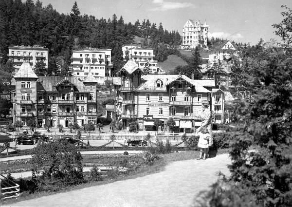 Krynica, stare zdjęcie, Witoldówka, Willa Tatrzańska