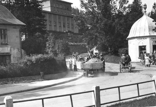 Krynica, Poczta, stare zdjęcie