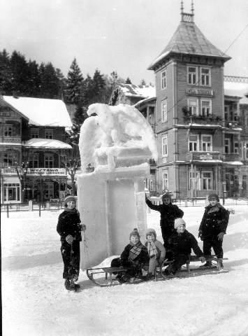 Krynica, tradycja rzeźb lodowych