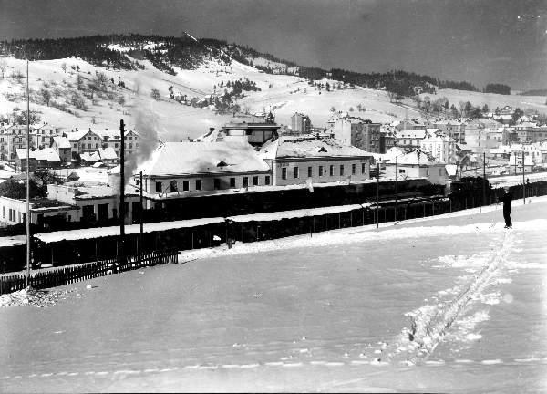 Krynica, skocznia narciarska, stare zdjęcie