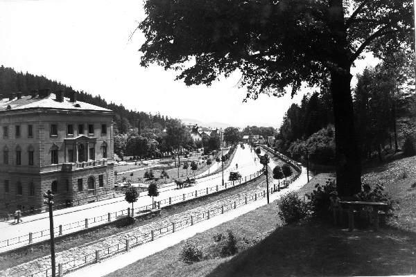 Krynica, Stary Dom Zdrojowy, stare zdjęcie