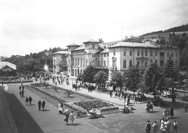 Krynica, Stary Dom Zdrojowy, archiwalne zdjęcie
