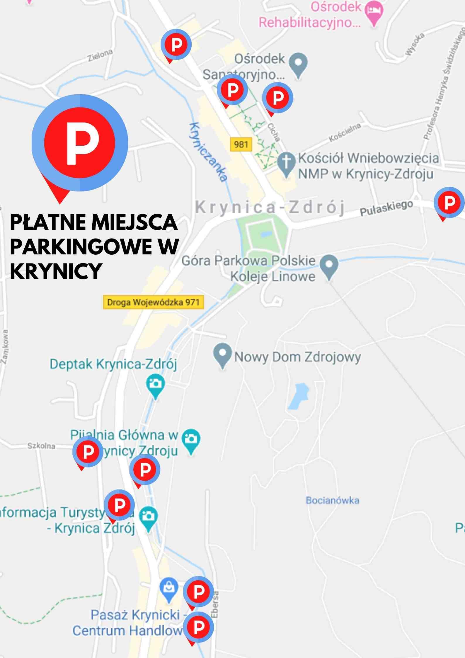 Krynica-Zdrój, parkingi płatne