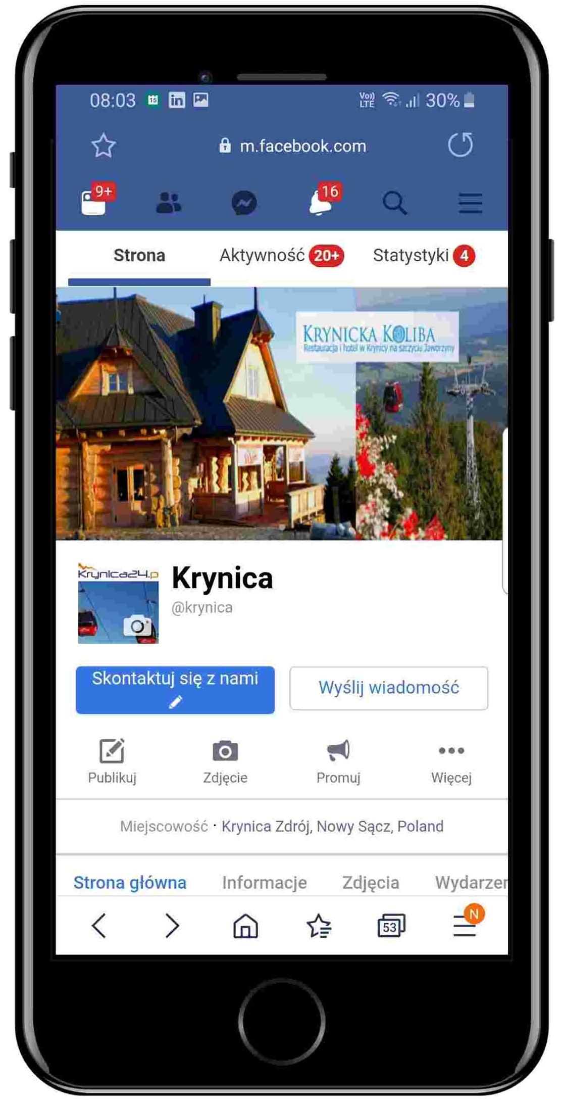 Krynica Górska - Facebook