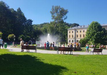 Atrakcje w Krynicy - Grająca fontanna na krynickim Deptaku