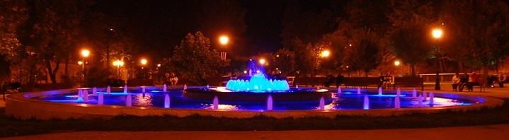 Wieczorny pokaz, Grająca Fontanna, Krynica