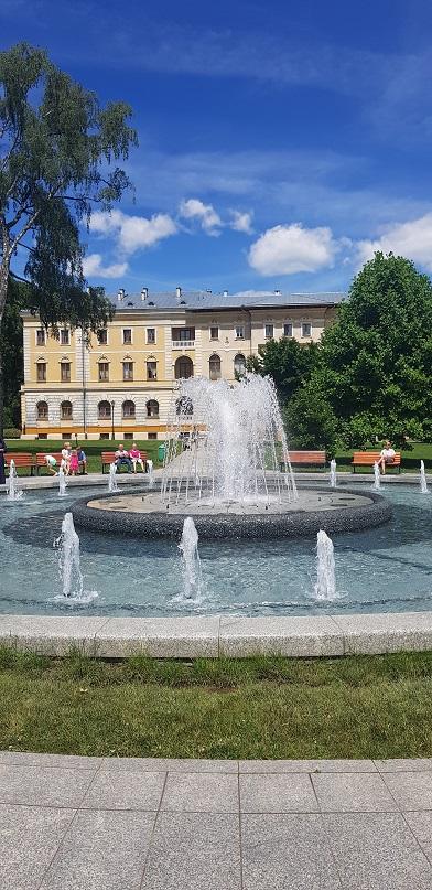 Krynica, Deptak, fontanna, Stary Dom Zdrojowy